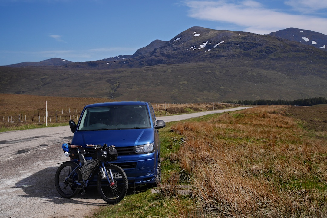 Parked up near Fisherfield Forest